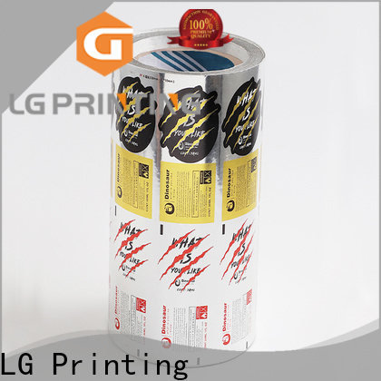 LG Printing bopp retail packaging supplier for cans