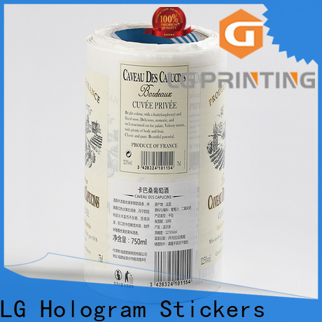 LG Printing waterproof food packaging requirements manufacturer for wine bottle