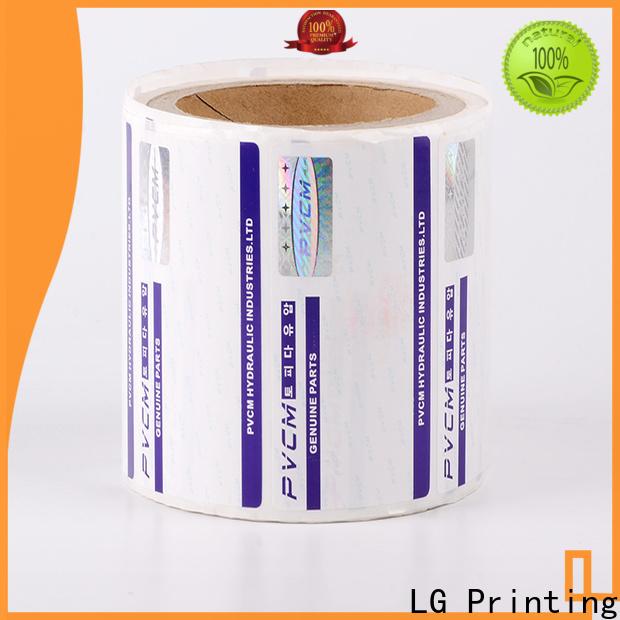 LG Printing foil security system stickers manufacturer for bag