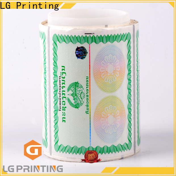 fake void hologram sticker stamping factory for bag