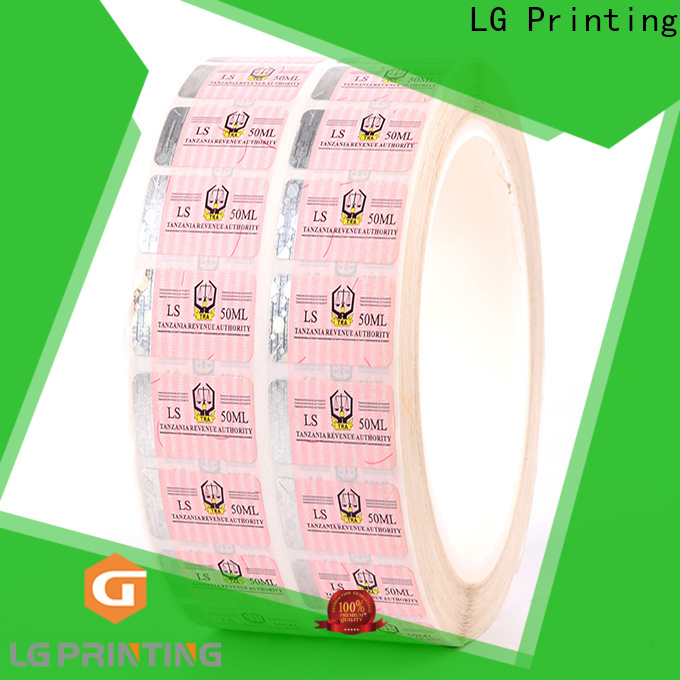 stamping sticker security 118 manufacturer for box