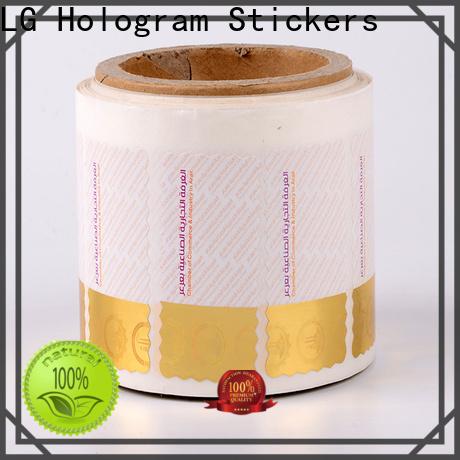 LG Printing PE label hologram manufacturer for goods