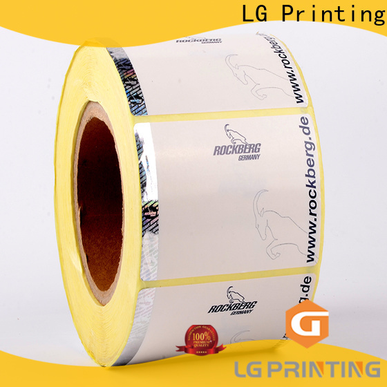 LG Printing PVC hologram stickers for certificates supplier for products