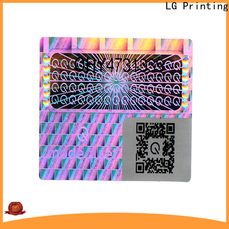 LG Printing one time confidential stickers manufacturer for door