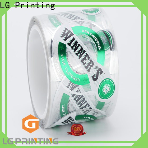 LG Printing printed packing labels series for wine bottle