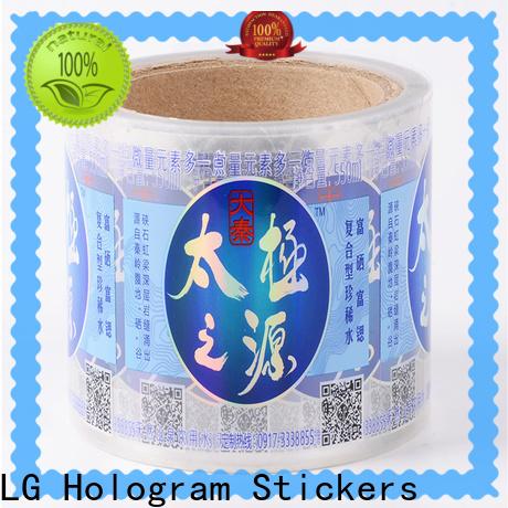 LG Printing pvc custom bottle labels supplier for bottle