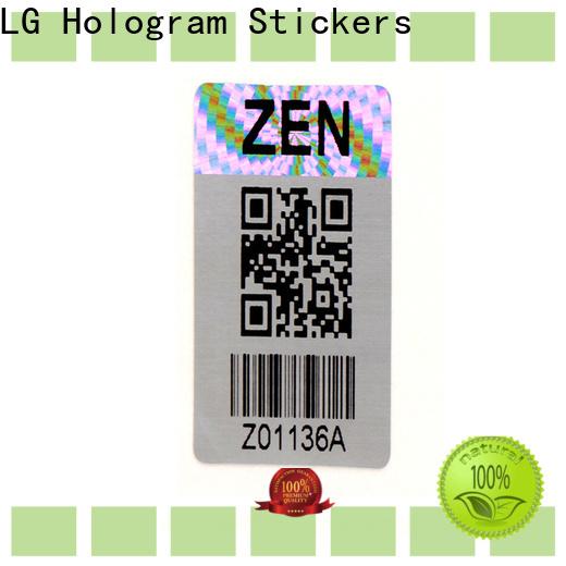 LG Printing various barcode labels sheet supplier for box
