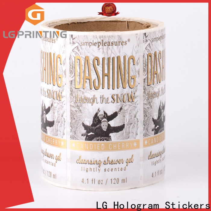 printing plastic stickers pvc supplier for jars
