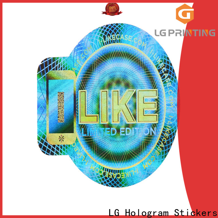 LG Printing authentic custom hologram stickers online label for box