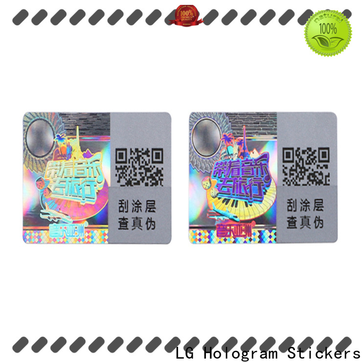LG Printing colorful asset management tags logo for refrigerator