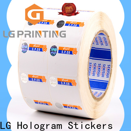 LG Printing standard hologram transparent manufacturer for goods