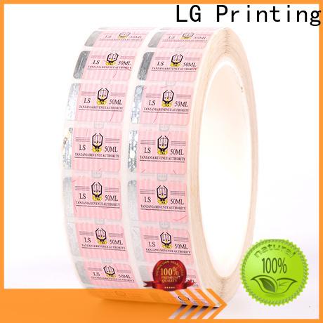 LG Printing serial hologram seal supplier for goods
