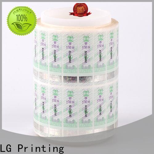 LG Printing fake 3d hologram sticker supplier for bag