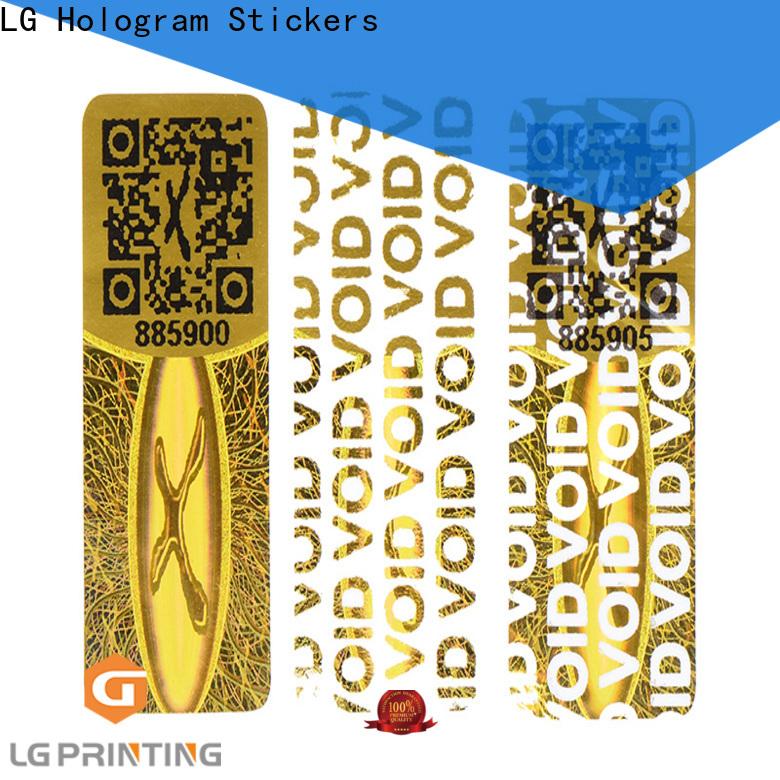 LG Printing gold hologram label manufacturers supplier for refrigerator