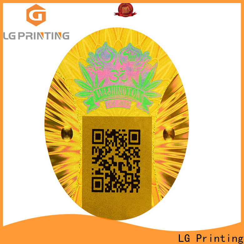 various numbered hologram stickers gold supplier for door