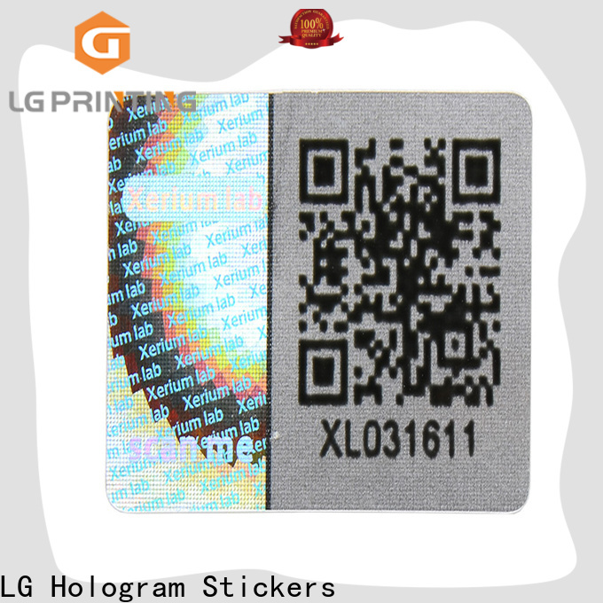 round wholesale hologram sticker printing scratch off supplier for box