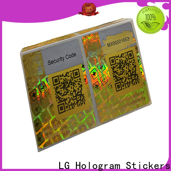 LG Printing gold waterproof sticker labels series for box