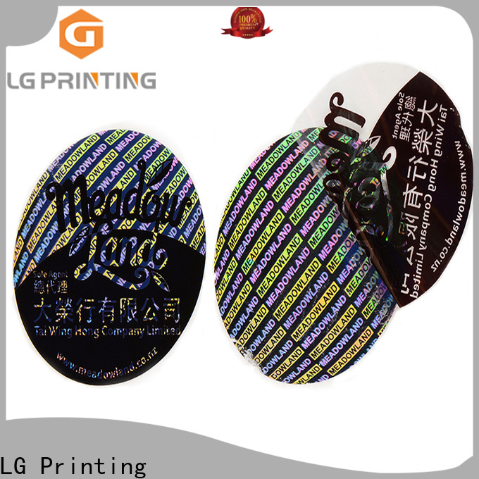 LG Printing round manufacturers of security void stickers supplier for refrigerator