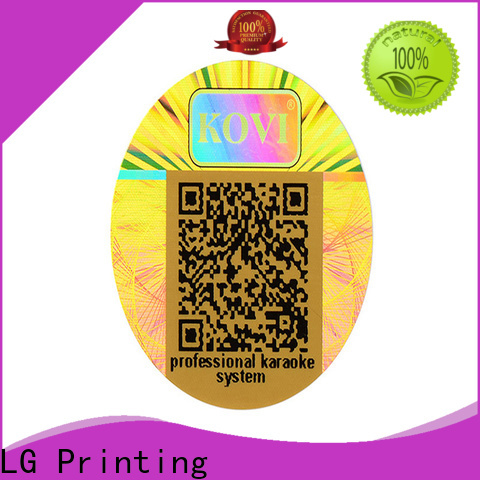 colorful hologram security sticker one time manufacturer for door