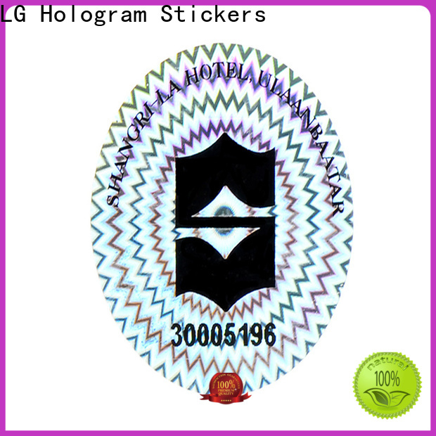 LG Printing various scratch off stickers logo for box
