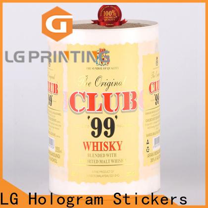 LG Printing pvc professional labels for bottles factory for bottle