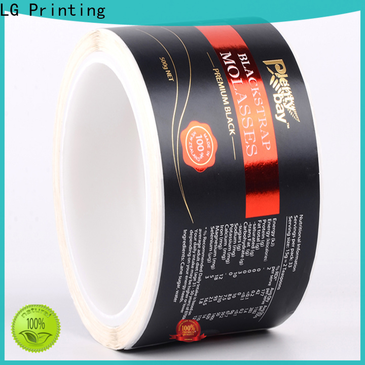 LG Printing printing stickers for plastic water bottles supplier for bottle