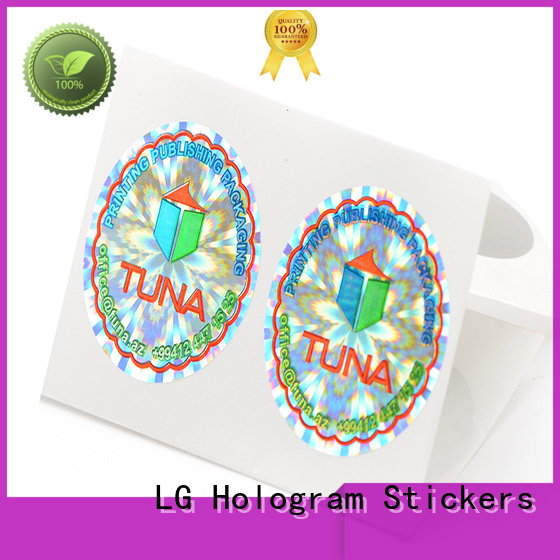 various print your own hologram stickers golden logo for table