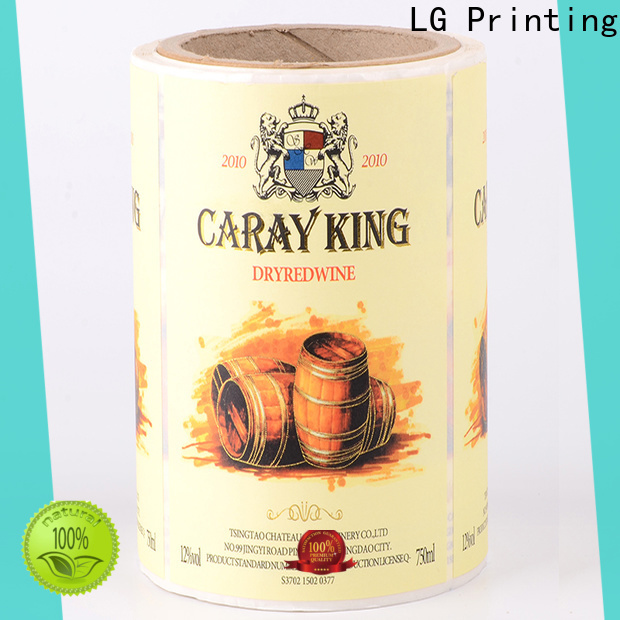 LG Printing red package printing manufacturer for cans