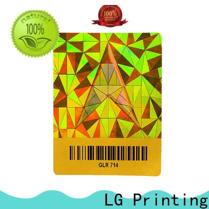 LG Printing stickers transparent hologram sticker series for door