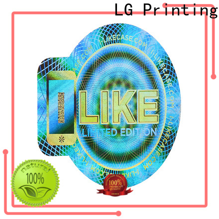 LG Printing void holo stickers manufacturer for table