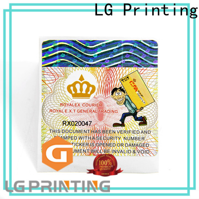 LG Printing self adhesive labels factory for business for products