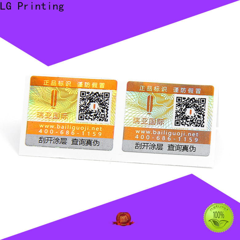 LG Printing adhesive labels factory factory for products