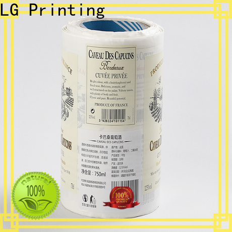 LG Printing gold adhesive clear labels series for jars
