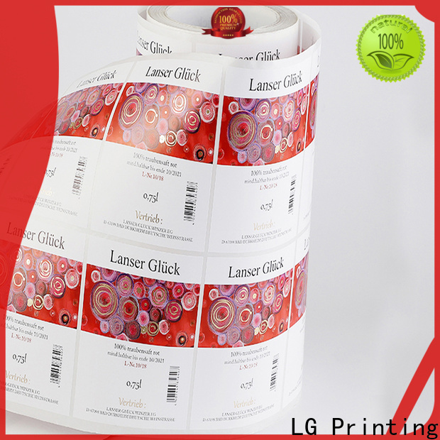 quality package label red factory for jars