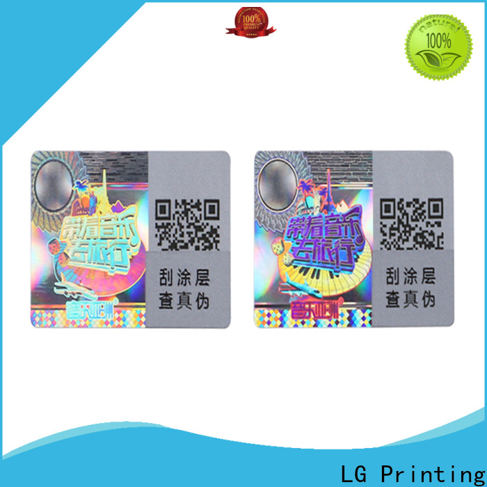 LG Printing one time custom made hologram stickers supplier for table