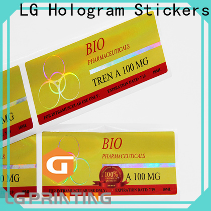 New holographic security stickers factory