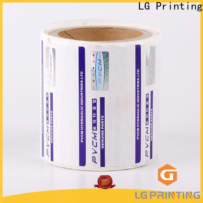 LG Printing printing holographic labels supplier for bag
