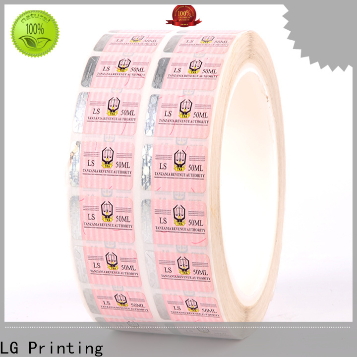 standard security tamper stickers paper supplier for bag