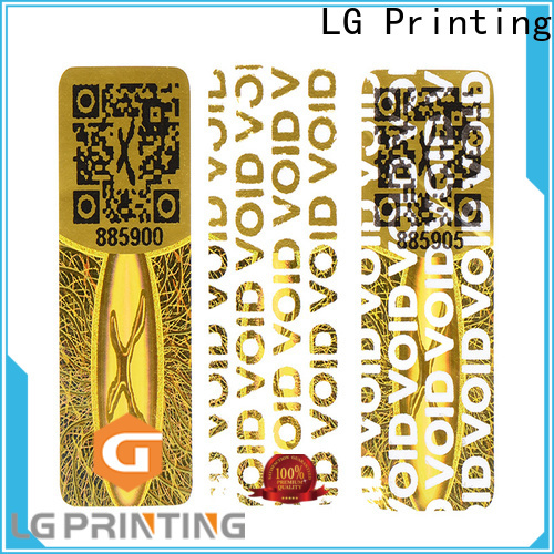 LG Printing scratched custom adhesive barcode label sticker factory series for door