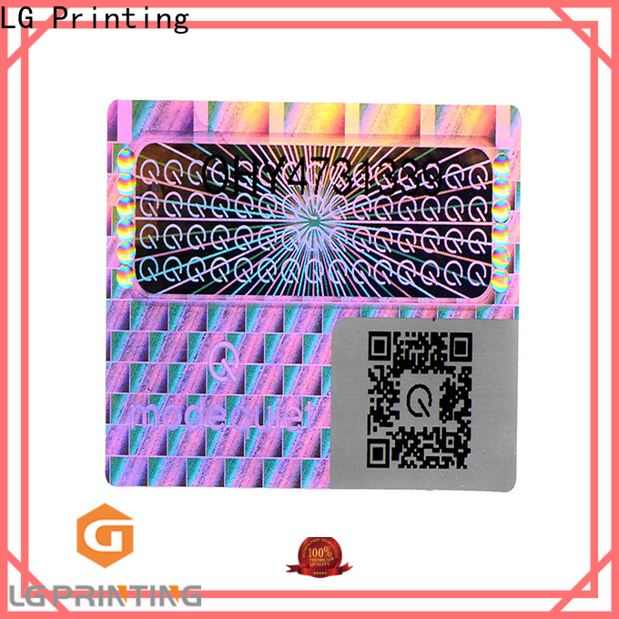 LG Printing round foil sticker paper supplier for door