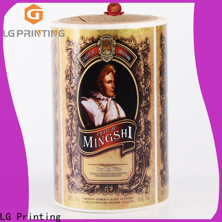 LG Printing pvc vinyl labels for bottles manufacturer for jars