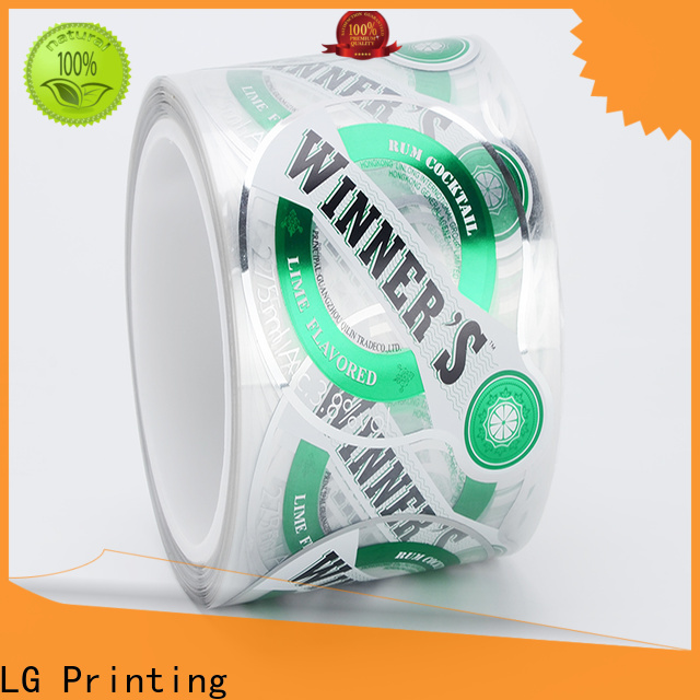 quality pre printed labels red series for jars