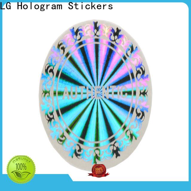LG Printing one time custom hologram sticker logo for door