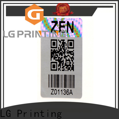 scratched custom adhesive barcode label sticker factory silver series for table