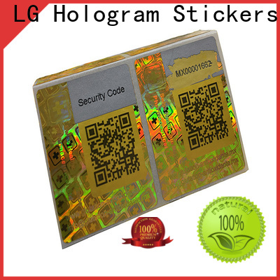 colorful custom stickers holographic one time logo for table