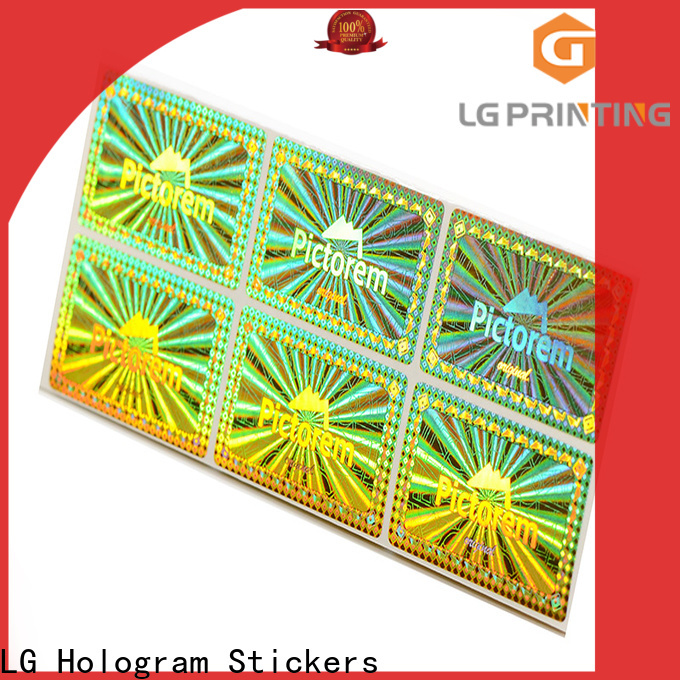 LG Printing silver custom hologram stickers logo for door