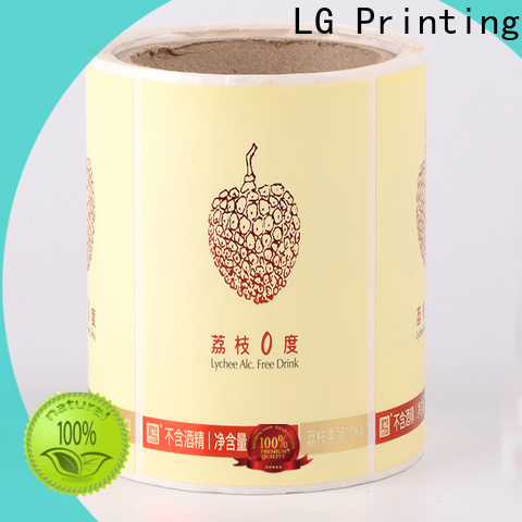 LG Printing glossy private label packaging factory for bottle