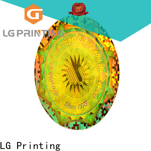 LG Printing void hologram security sticker logo for box
