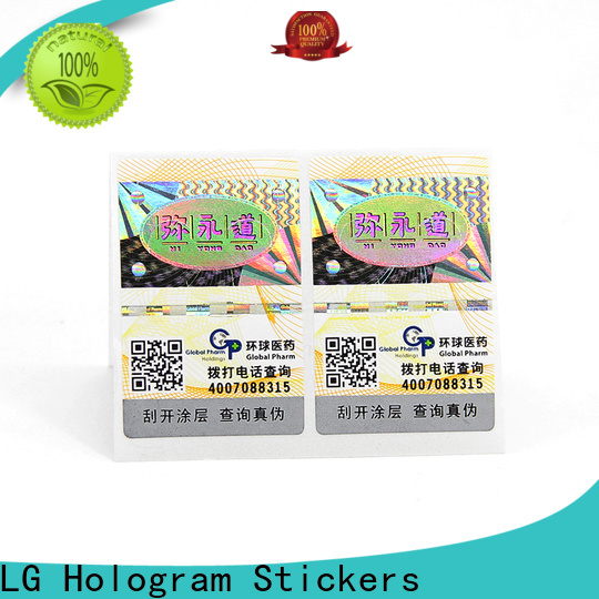 LG Printing Custom custom business labels stickers Supply for products