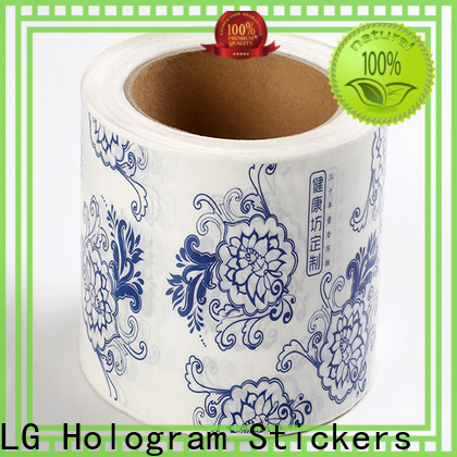 LG Printing bopp plastic bottle labels factory for cans